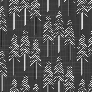 Forest - Pine Trees Charcoal