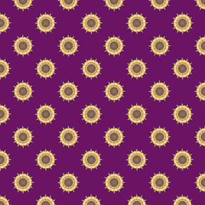 Autumn Flower Print on purple