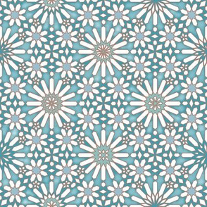 Spanish Tiles Icy Blue