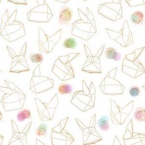 Origami Balloon Rabbits, White