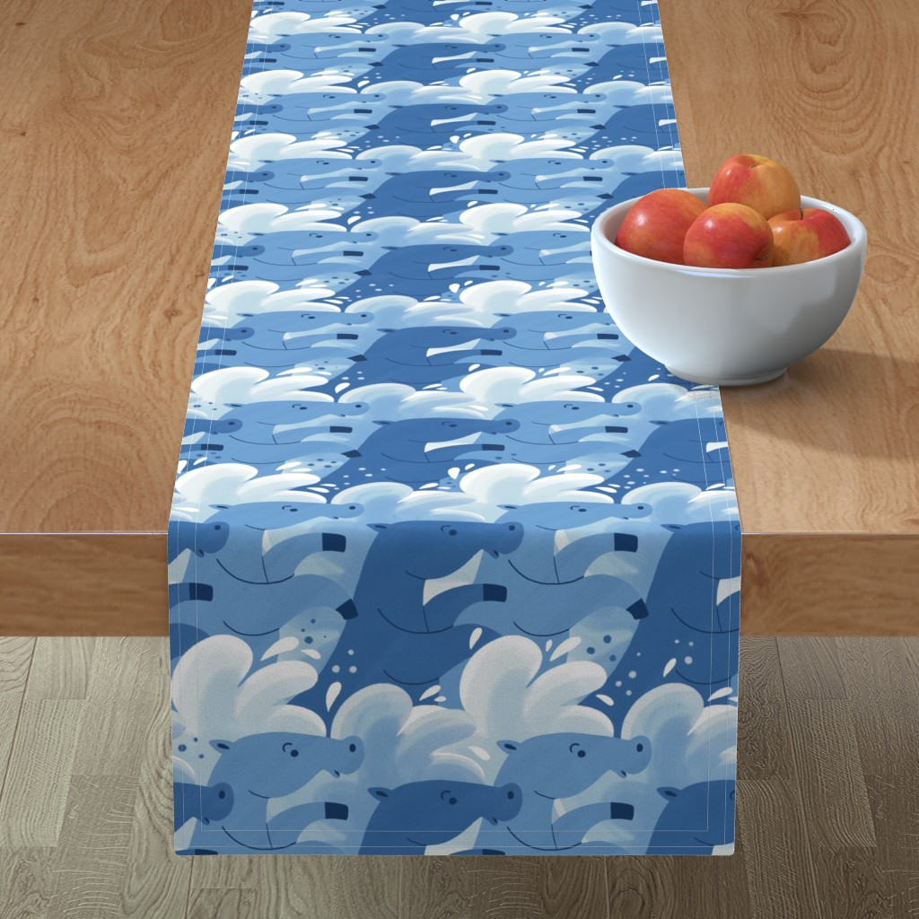 Minorca Table Runner featuring Horse waves by gnoppoletta