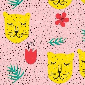 Pink and yellow cheetah