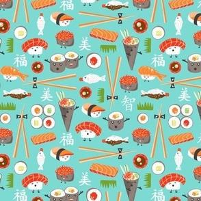 Happy Sushi - Kawaii Ditsy Scale