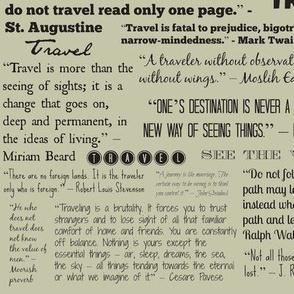 Travel Quotes, light khaki
