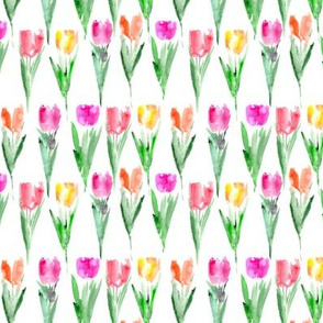 Watercolor tulips smaller scale