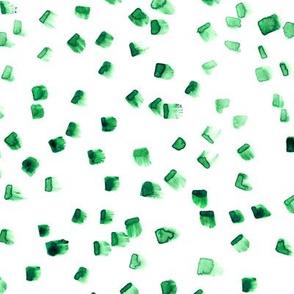 Green brushstrokes