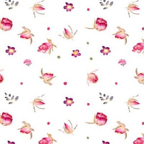 Flowers pattern in pink