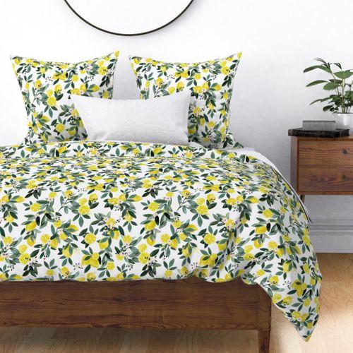 Dear Clementine lemons - Spoonflower