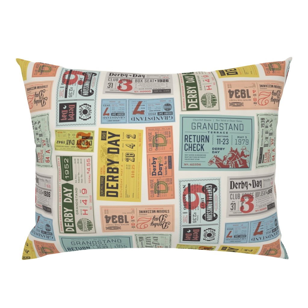 Campine Pillow Sham featuring Derby Day FINAL-01 by heavenstobetsydesign