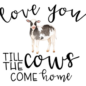 Farm//Love you till the cows come home - 1 Yard Panel (Minky)