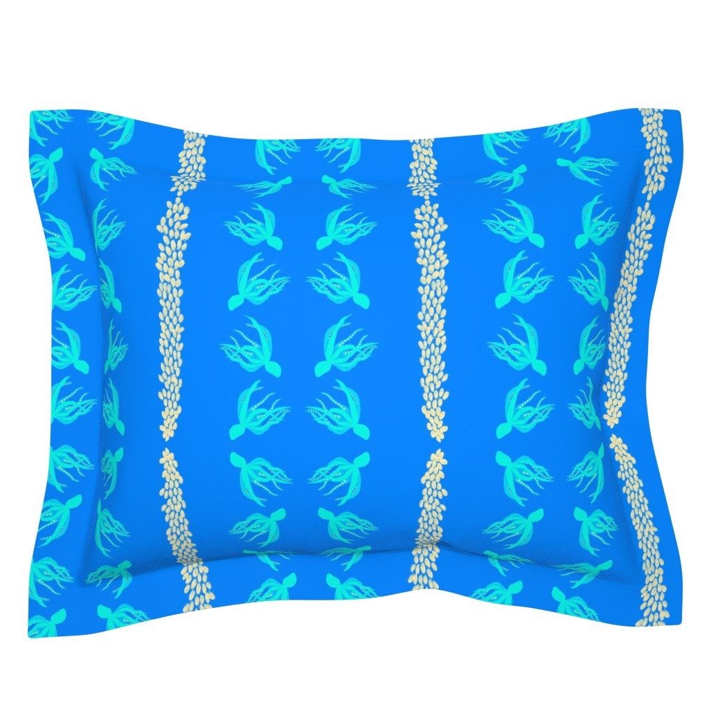 Sebright Pillow Sham featuring  #SAGE WOD LG  Octopus with egg strands by maryyx