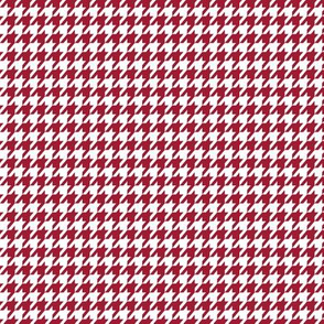 Crimson Red and White Houndstooth Small