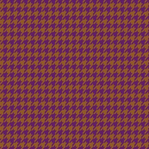 Purple on Brown Houndstooth Small