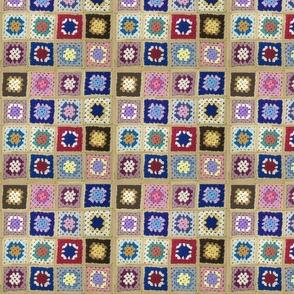 Vintage Wool Crochet Blanket
