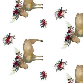 90 Bohemian Moose with Red Florals