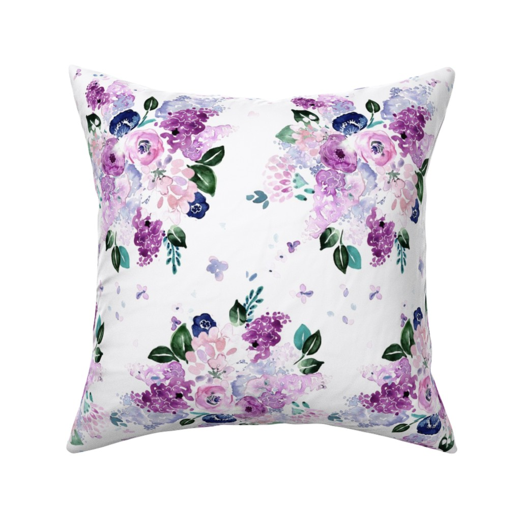 Catalan Throw Pillow featuring lilac lavender romance by crystal_walen