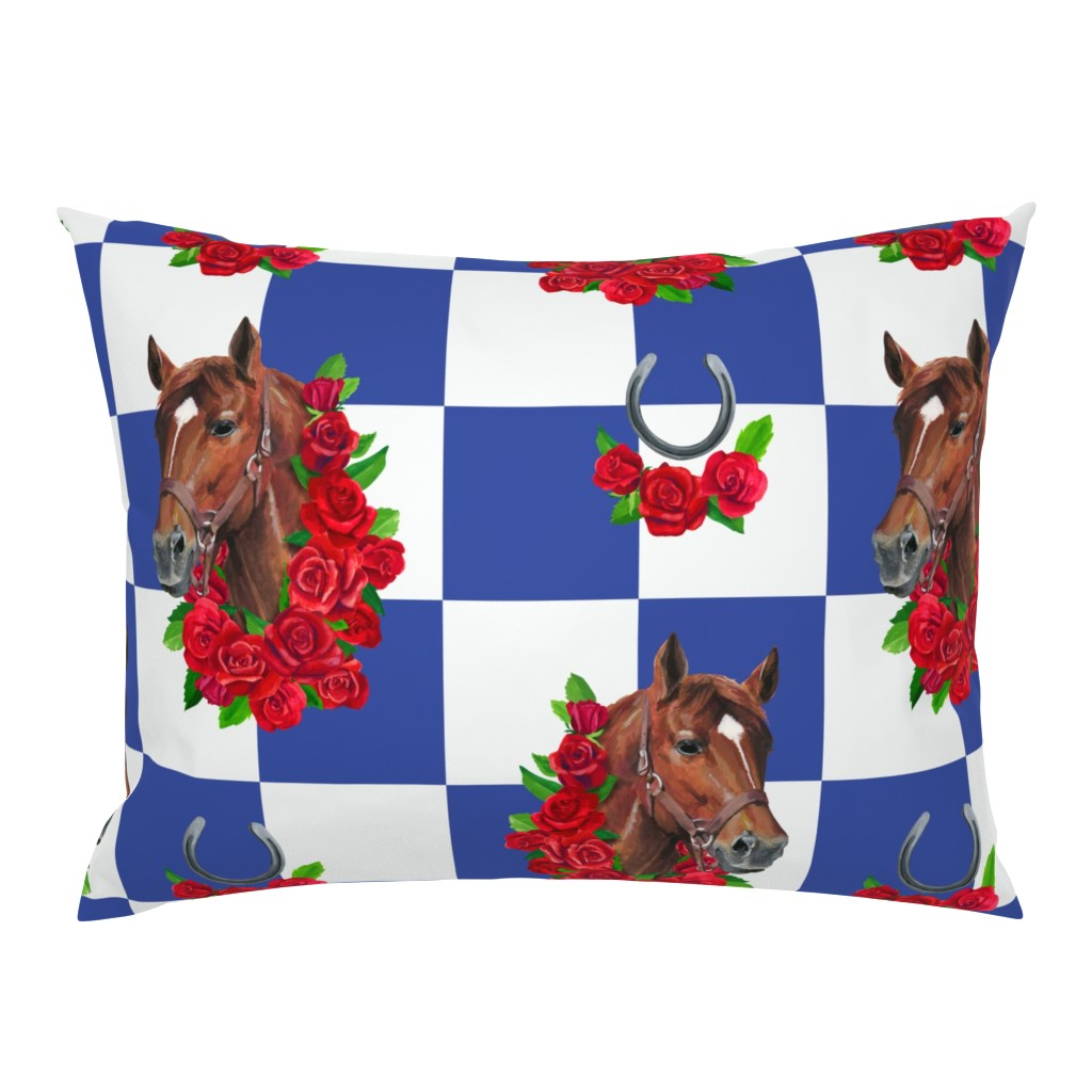 Campine Pillow Sham featuring Secretariat racing royalty by ghouk