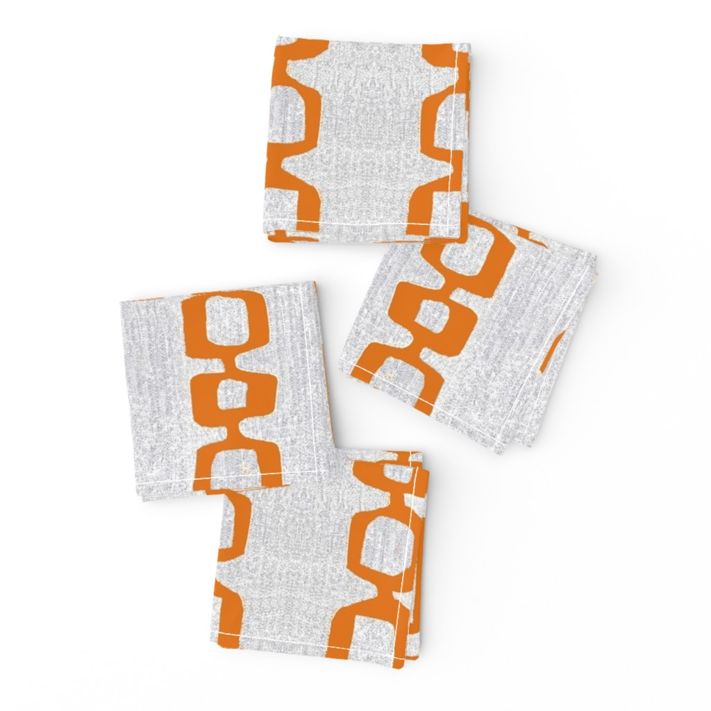 Frizzle Cocktail Napkins featuring atomic links mid century orange gray by jenlats