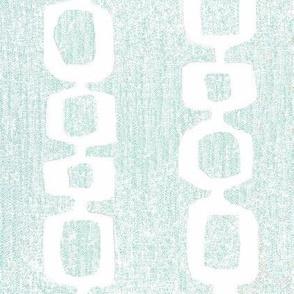 White links on aqua Mid Century Loops