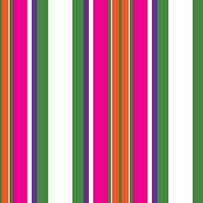 cartoon flowers stripes