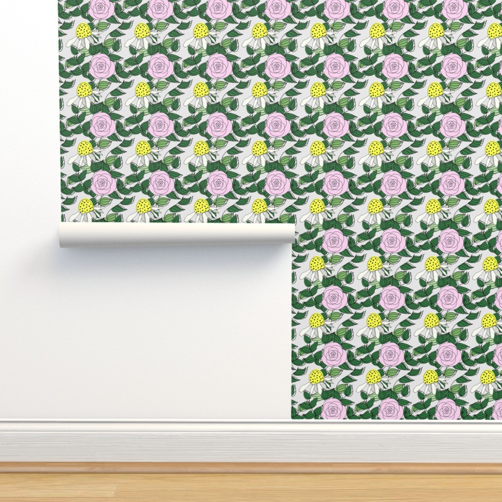 Isobar Durable Wallpaper featuring Stop and Smell the Roses by ashandannstudio