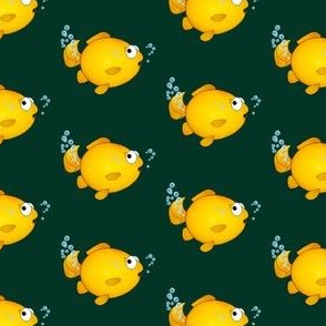 Oops fish yellow cartoon