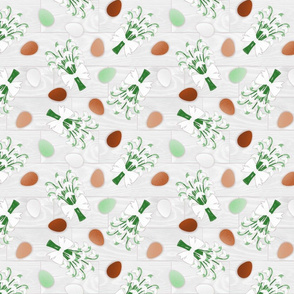Free-Range Eggs with Snowdrops