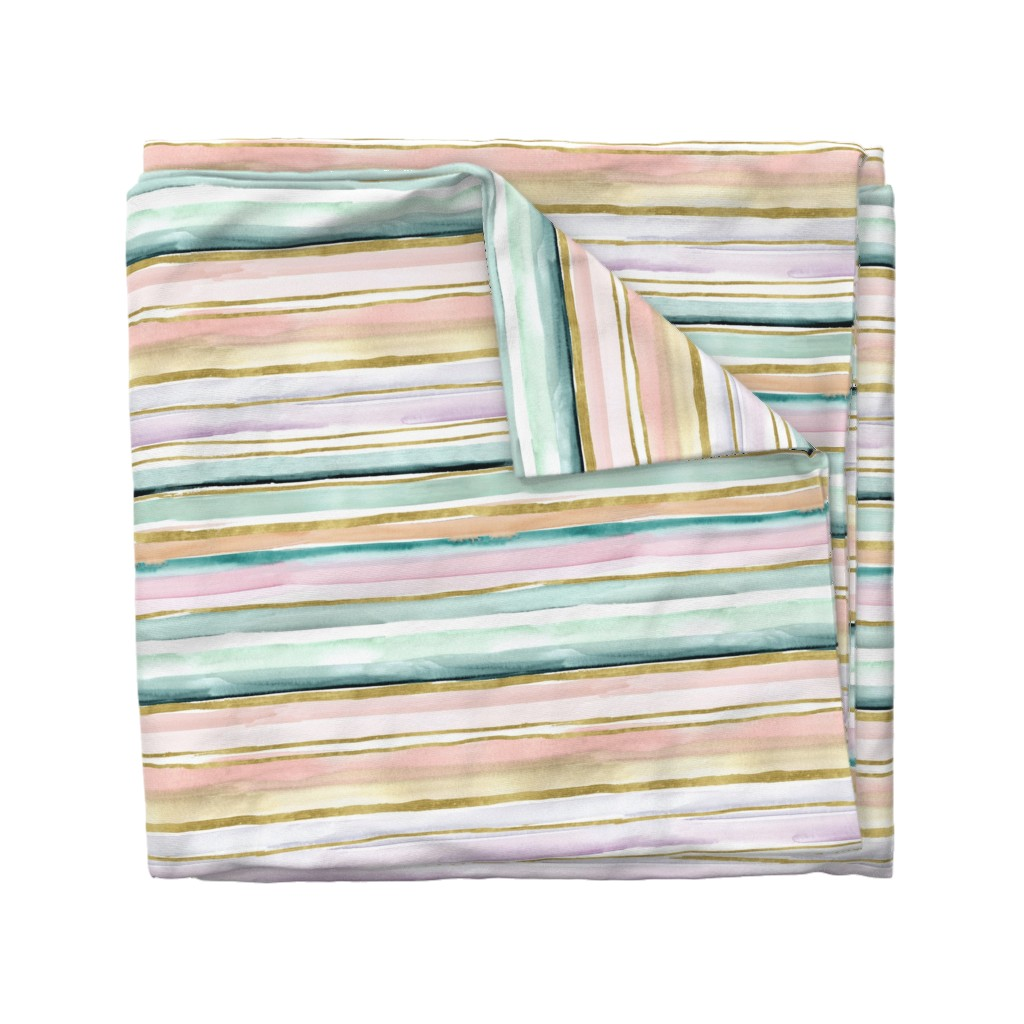 Wyandotte Duvet Cover featuring Daydream Stripe by crystal_walen