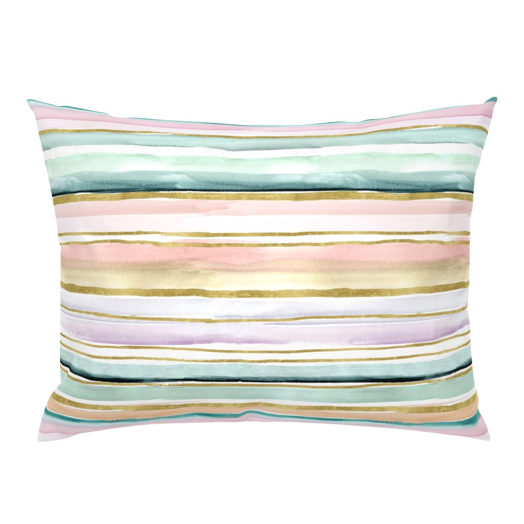 Campine Pillow Sham featuring Daydream Stripe by crystal_walen