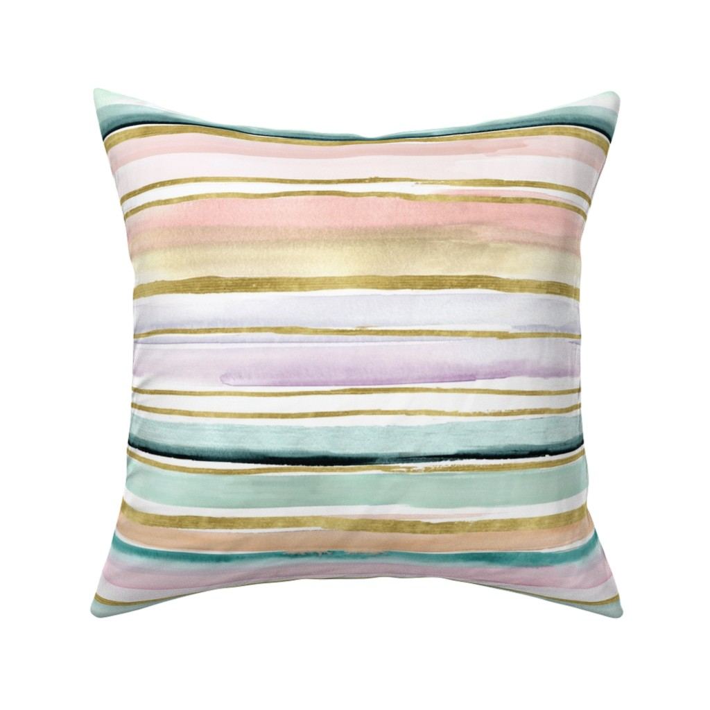 Catalan Throw Pillow featuring Daydream Stripe by crystal_walen