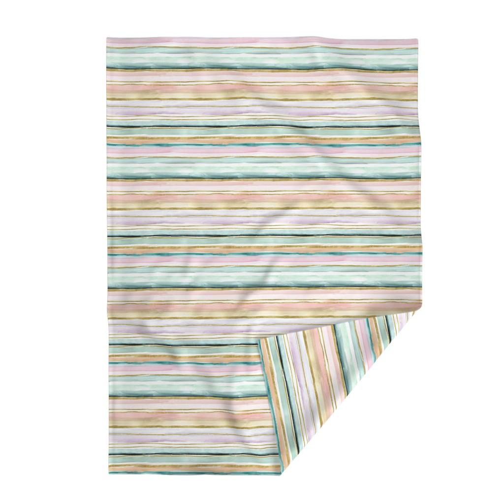 Lakenvelder Throw Blanket featuring Daydream Stripe by crystal_walen