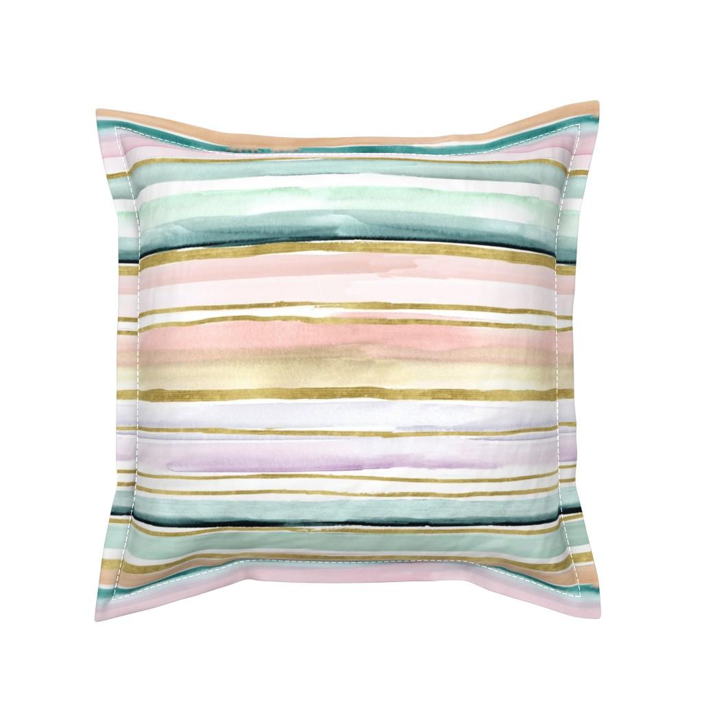 Serama Throw Pillow featuring Daydream Stripe by crystal_walen