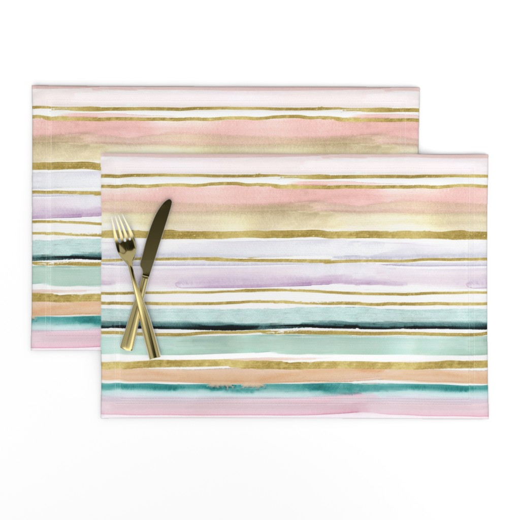 Lamona Cloth Placemats featuring Daydream Stripe by crystal_walen