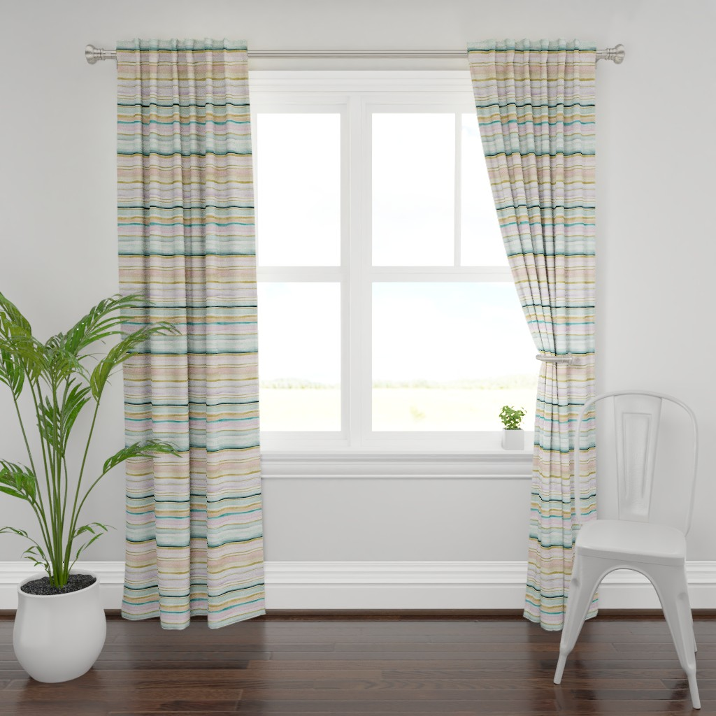 Plymouth Curtain Panel featuring Daydream Stripe by crystal_walen