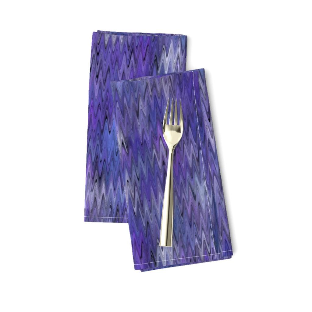 Amarela Dinner Napkins featuring waves in ultraviolet by elizabethmay