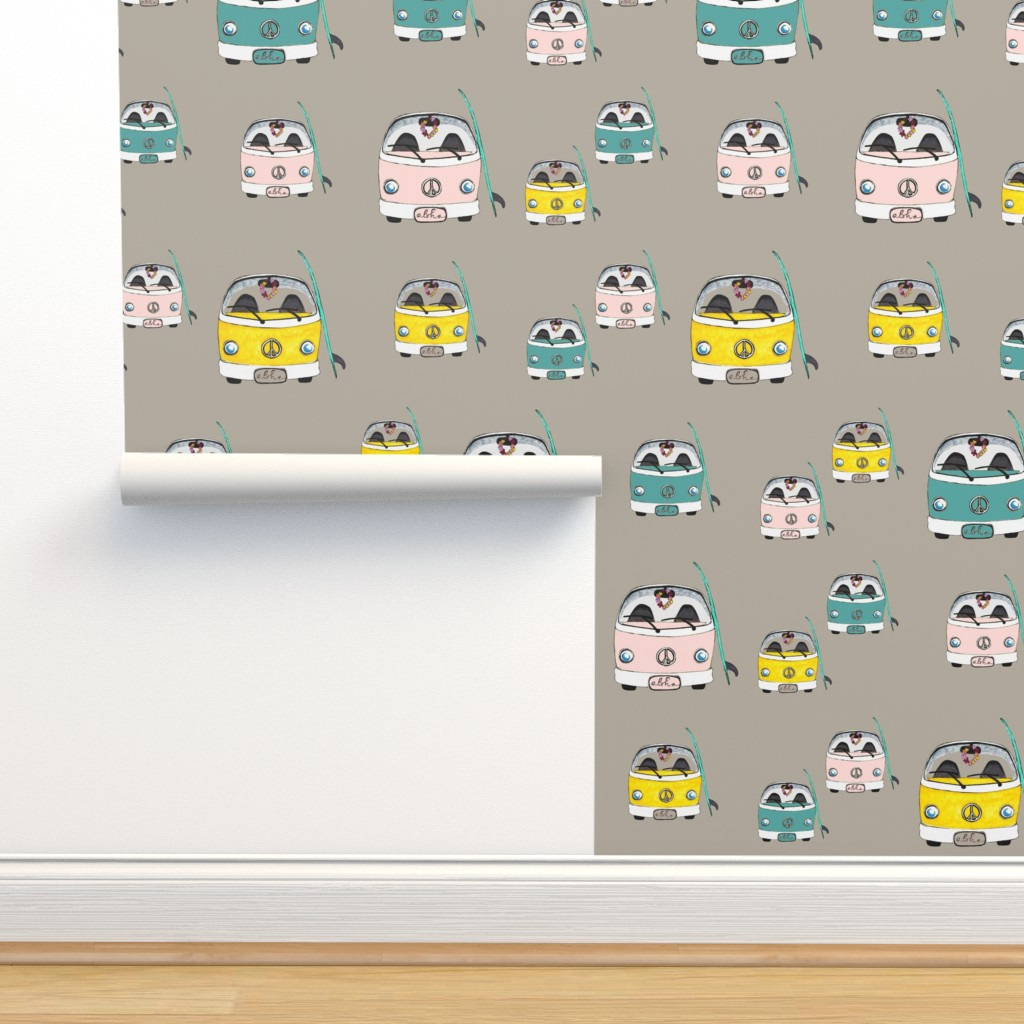 Isobar Durable Wallpaper featuring Beach Bus multi size by hunnellekari