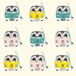 Beach Bus multi color
