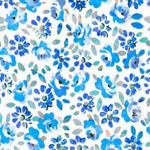 Floral Squares XL Blue
