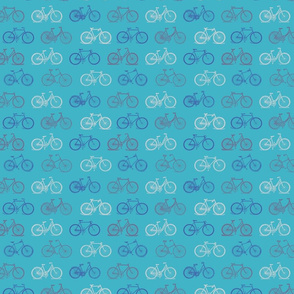 Vintage Blue Bicycles (small version)