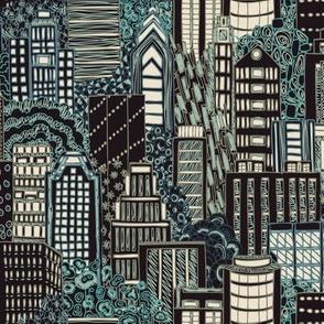 Biro City Night Lights Sketch