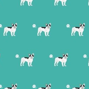 frenchie french bulldog fart dog breed funny fabric teal