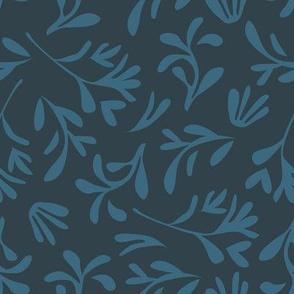 Simple leaf [dark blue]