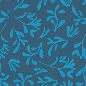 Simple leaf [denim blue]