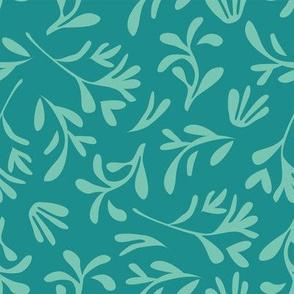 Simple leaf [aqua]