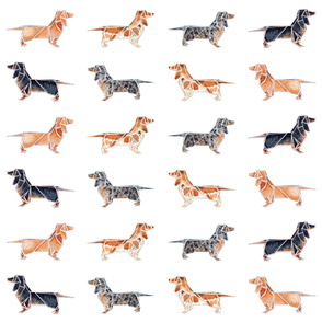 Tiling Origami Dachshunds