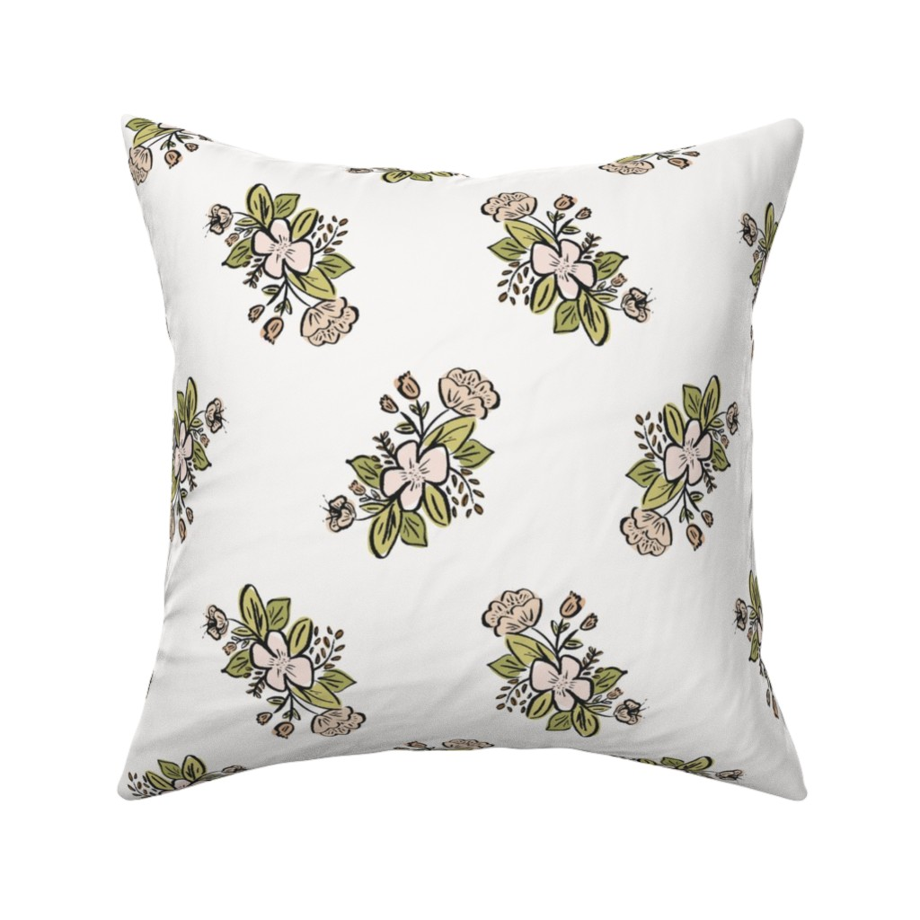 Catalan Throw Pillow featuring Full Bloom by anniemontgomerydesign