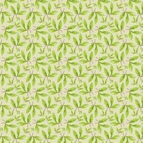Green Watercolor Leaves, Small Botanical Print