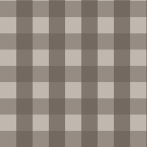 Large Warm Gray Check: Warm Grey Check Deep