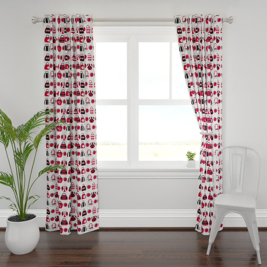 Plymouth Curtain Panel featuring Bowling Bags by cjldesigns