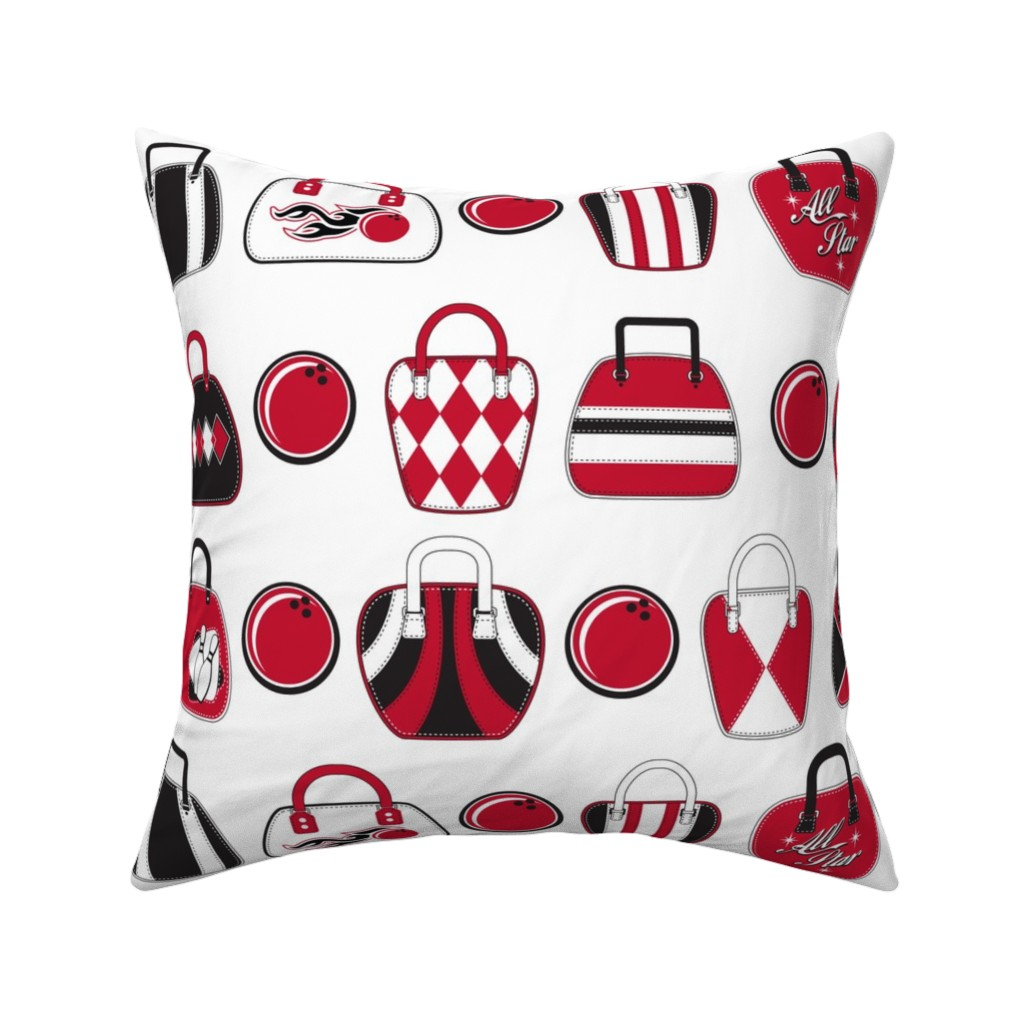 Catalan Throw Pillow featuring Bowling Bags by cjldesigns